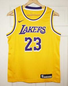 Details about Youth Nike LeBron James #23 LA Lakers Icon Edition Gold Swingman Jersey XL 18/20