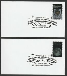 US-5399-5400-1969-First-Moon-Landing-set-of-2-BWP-FDC-2019
