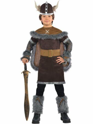 Vikings Wikinger Kostüm für Jungs Verkleidung Fasching Karneval Barbar Schwert