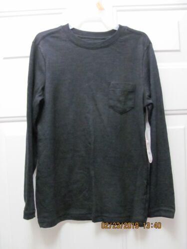 NEW NWT Wonder Nation Long Sleeve Tee Shirt Boys Small 6//7 Black Soot