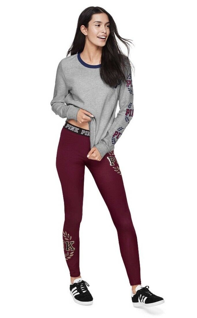 Victoria's Secret PINK Bling Flat Legging  Size Small