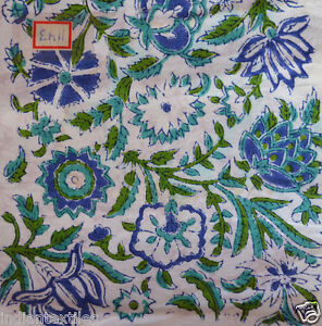 New Indian Cotton Floral Printed Running Loose Dressmaking Light Weigh Fabric By The Yard Throw Hand Block Print Women Clothing Craft Sewing