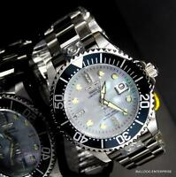Invicta Grand Diver Automatic Diamond Ltd Edition Platinum MOP 47mm Watch New