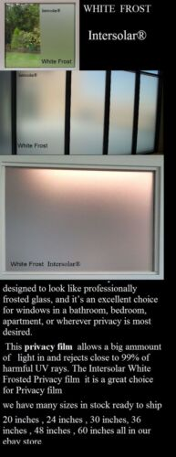 """28/"""" x 8.5 Feet Home Residential Commercial  Window Tint  White Frost Privacy"""