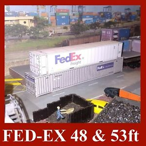 Z Gauge 1:220 Allied, DHL, UPS, Fed-Ex, TNT, Shipping Containers 48 & 53ft x 12