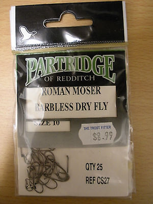 Partridge E4A Pack of 25 Fly Tying Hooks Size 10