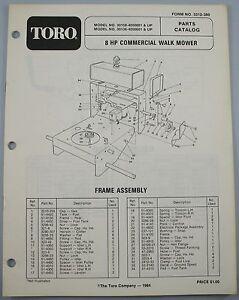 Toro 1984 Model 30108 Amp 30136 8 Hp Commercial Walk Lawn