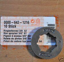 Genuine Stihl Rim Sprocket MS361 MS362 MS380 MS381 0000 642 1216 8T Tracked Post
