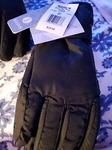 NEW Thinsulate 3M Boys Sz S M Snow Ski Gloves Waterproof IGLOOS  Winter Black