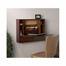 Wall Mount Computer Desk Floating Home Office Table Shelves Storage Folding New