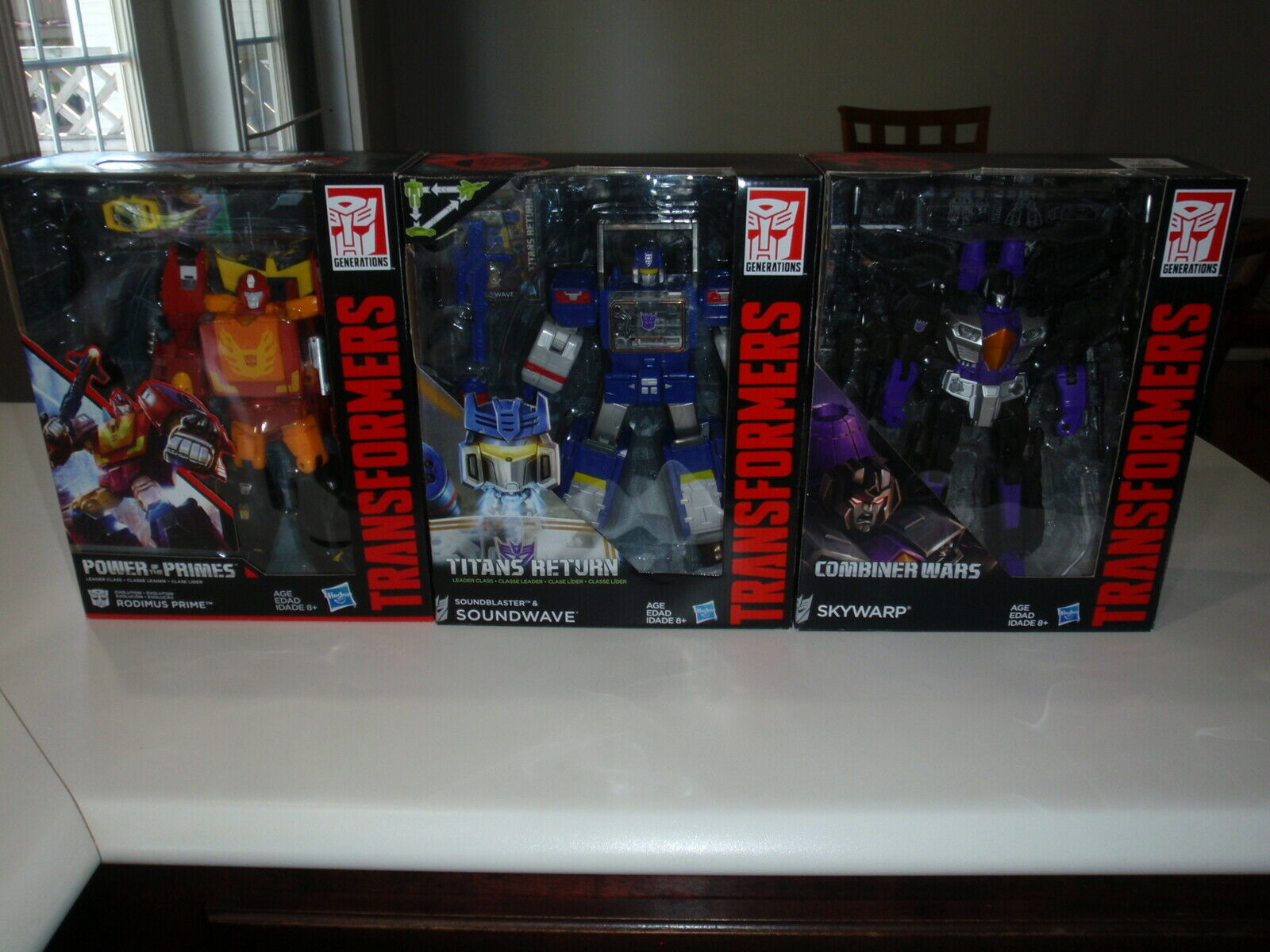 Transformers Titans Return Primes Kriege Soundwave Rodimus Prime Skywarp
