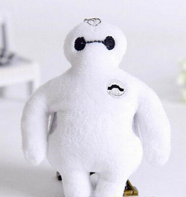 "Big Hero 6 Baymax Keychain 3.75"" US Seller Charm pendant key chain collectible"