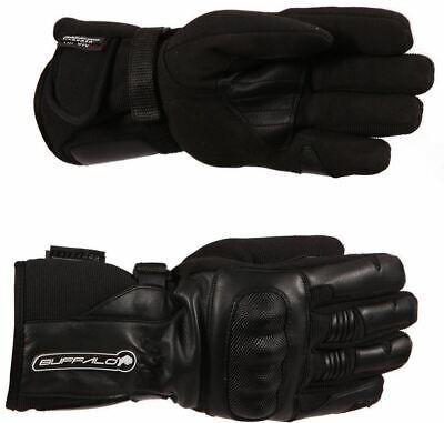 Buffalo Trail Mens Waterproof Black Neon Textile Motorcycle Gloves New