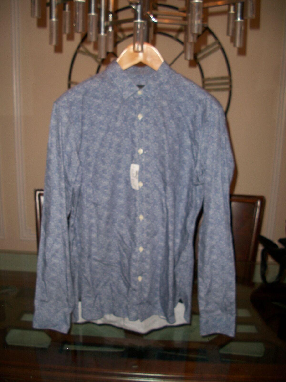 New ERMENEGILDO ZEGNA Z ZEGNA bluee slim fit shirt size XL Saks
