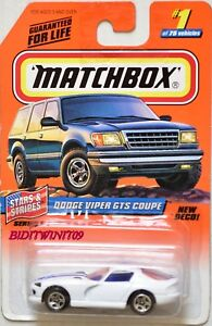 MATCHBOX-1998-1-of-75-DODGE-VIPER-GTS-COUPE-STARS-amp-STRIPES