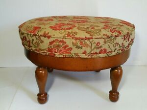 Outstanding Details About Vintage Round Footstool Ottoman Solid Wood Base Beatyapartments Chair Design Images Beatyapartmentscom