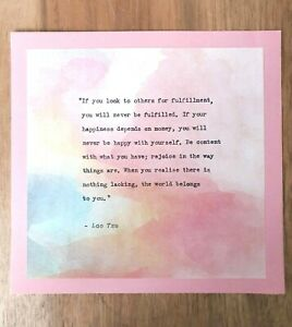 Lao-Tzu-039-Fulfillment-039-Quote-Vintage-Hand-typed-Ideal-Gift