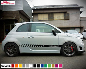 Image Is Loading Decal Sticker Vinyl Side Stripes For Fiat 500