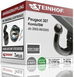 Anhaengerkupplung-starr-Fuer-Peugeot-307-Kombi-SW-2002-2005-E-SATZ-7-polig-ABE