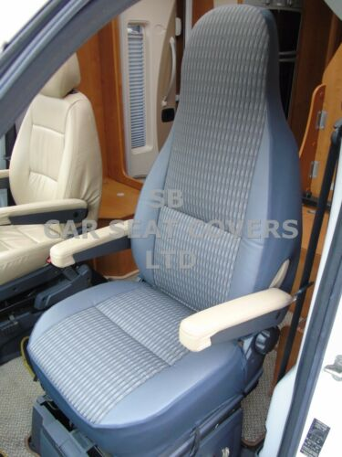 MH-181 SCHWARTZ GREY SEAT COVERS TO FIT A FIAT DUCATO MOTORHOME 2008