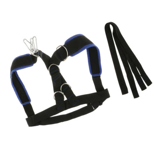 Sled Harness with 5.5/' Pull Strap Speed Resistance Training Belt Webbing