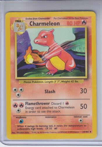 Charmeleon Card # 24//102 Pokemon Base Set