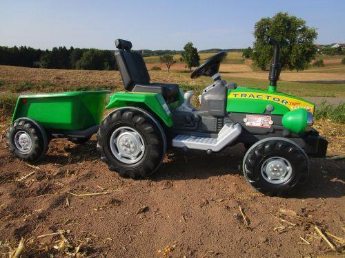 Traktor mit 2 Motoren je 12V Traktor mit Anhänge Fahrzeug Top Qualität 05-210-H