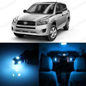 10 x Blue LED Interior Lights Package For 2016-2018 Toyota Rav4 Rav 4 TOOL