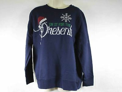 c5f20f7432c Just My Size Women s 16w Plus Ugly Christmas Sweatshirt Hanes Navy ...
