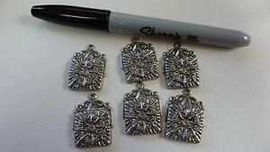 plated-brass-stamping-finding-drop-dangle-embellishment-Aztec-style-A130