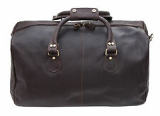 END OF LINE SALE Prime Hide Soft Thick Brown Holdall Overnight Bag Weekend Bag