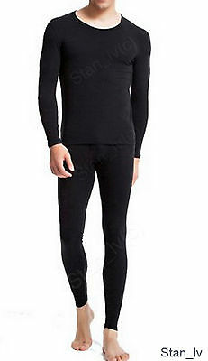 Men's 2-Piece Thermal Underwear Set Long Johns Waffle Knit Stay Warm M L XL XXL