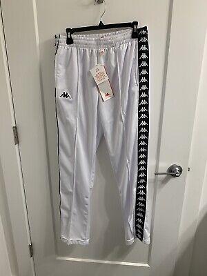 KAPPA MEN/'S BANDA RASTORIA SLIM FITTED TRACK PANTS IN WHITE BLACK //// BNWT ////