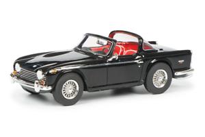 Schuco 08874-1 43 Triumph Tr5 con Abierto Surrey Top - Rojo Negro - Nuevo