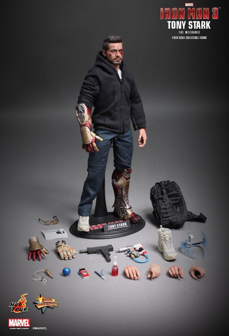 Hot Toys 1 6 Marvel Iron Man 3 MMS209 Tony Stark (The Mechanic) Action Figure