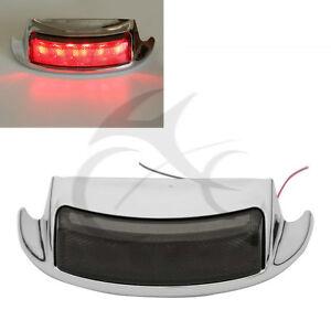 Chrome LED Rear Fender Tip with Smoke Lens fits Harley-Davidson