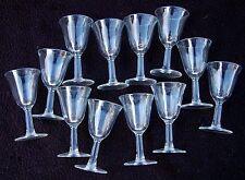 Set of 11 After Dinner CORDIAL Glasses / Vintage Stock / Dozen Plain / France