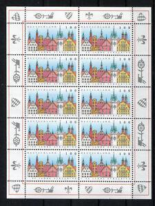 Bund-1910-postfrisch-KB-mit-Plattenfehler-1910-I-Zehnerbogen-BRD-10-er-Bogen