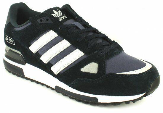 Adidas Originals Zx750 Trainers Navy Weiß UK 11 EU 46 LN43 33