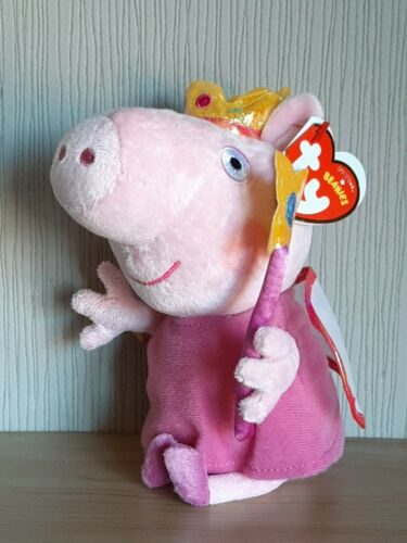 Ty Beanies Fairy Princess Peppa Pig Plush Soft Toy  New