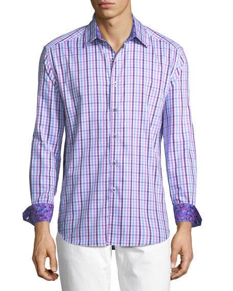 NWT Robert Graham City Car Long Sleeve Button Up Dress Shirt Flip Cuff Size XL