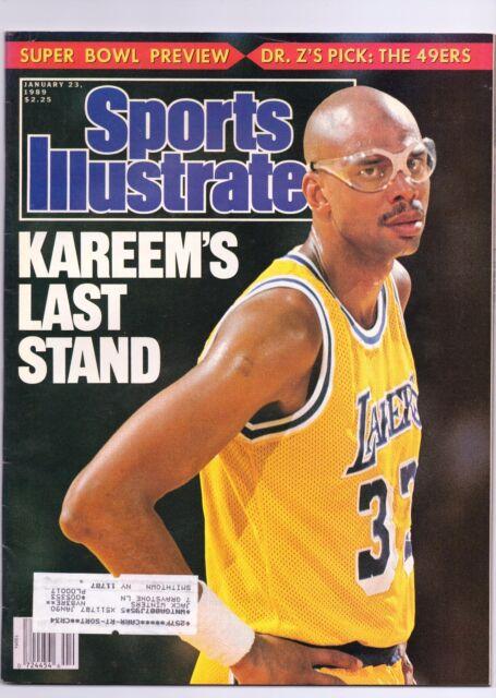 SPORTS ILLUSTRATED 1/23/1989 KAREEM ABDUL-JABBAR'S LAST STAND COVER **NICE**