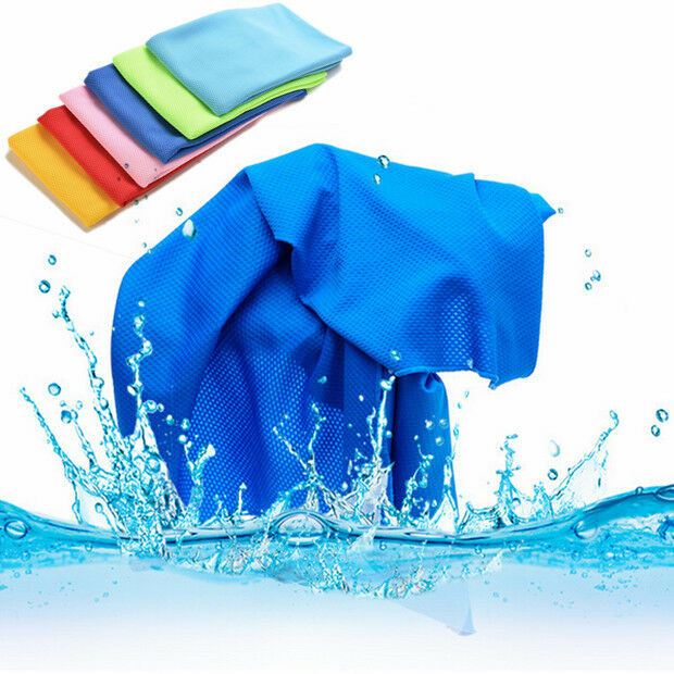 Sports Exercise Sweat Summer Ice Cold Towel PVA Hypothermia Cooling Towel FF