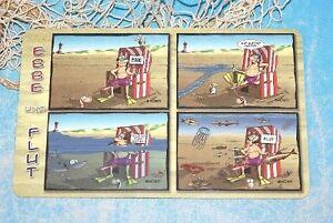 Strandkorb comic  Frühstücksbrettchen Brettchen Schneidbrett Ebbe und Flut Strandkorb ...