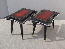 Pair Vintage Gordon's Fine Furniture Asian Oriental Influence Wood END TABLES