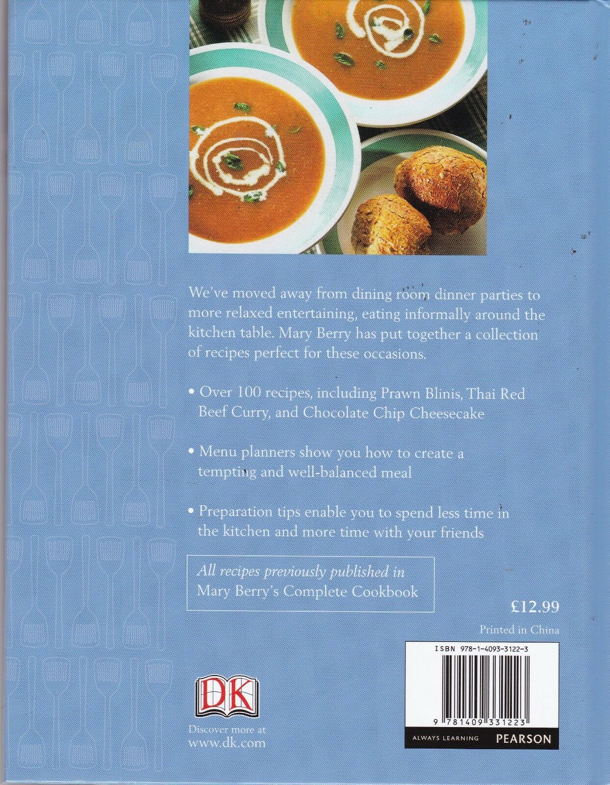 Mary Berrys Supper For Friends Book The Cheap Fast Post