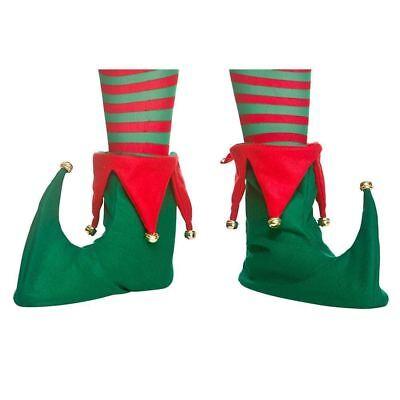 Cerca Voli Adulti Elfo Stivali Copriscarpe Natale Folletto Giullare Pantofole Vestito Ne