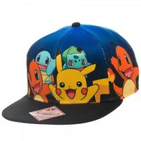 Bioworld Official Pokemon Group Gradient Snapback Hat on Sale