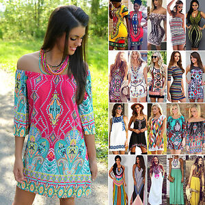 Bohemian-Women-Tribal-Printed-Dress-Summer-Evening-Party-Cocktail-Beach-Sundress