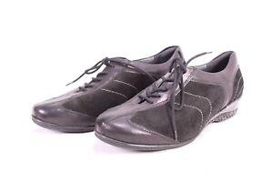 C1787-Theresia-M-Komfort-Sneaker-Halbschuhe-Leder-Gr-38-5-5-5-K-schwarz